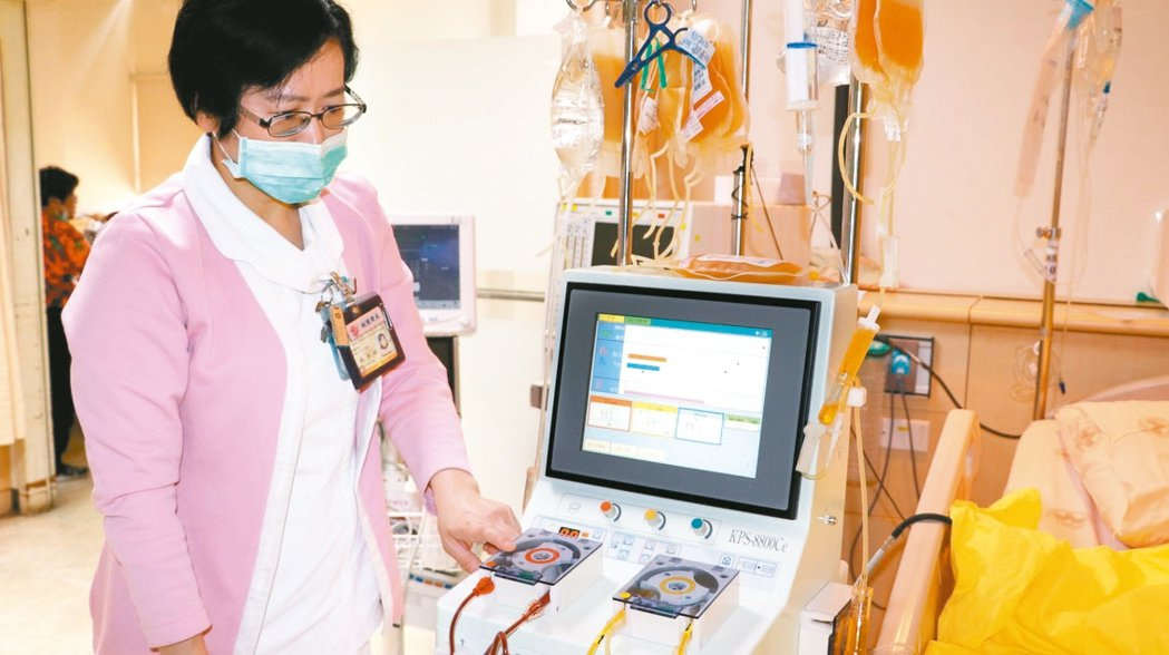 運用血漿置換術可以成功平息甲狀腺風暴。 圖/台北榮總提供
