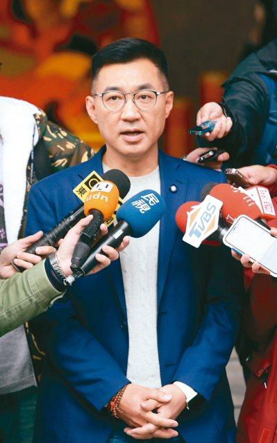 國民黨主席補選,立委江啟臣爭取年輕人認同。 記者曾吉松/攝影