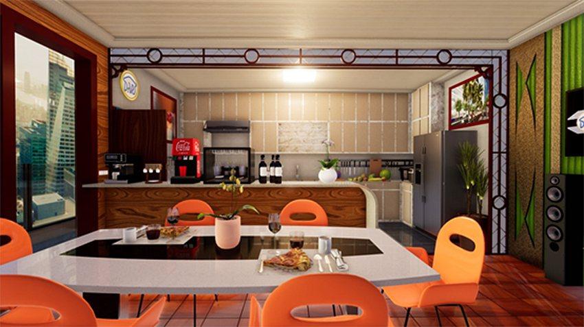 圖一:文藝風格之廚房與餐廳。 盧鴻智/提供