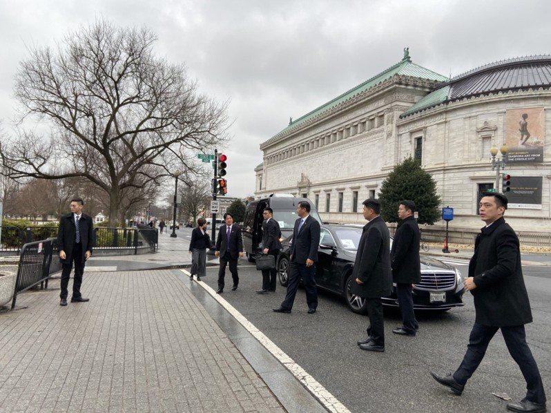 副總統當選人賴清德一行人前往白宮國安會與美國官員會談。 聯合報記者張加/攝影