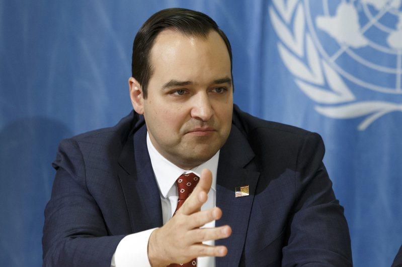美國駐日內瓦大使布倫博格(Andrew Bremberg)。 圖/歐新社