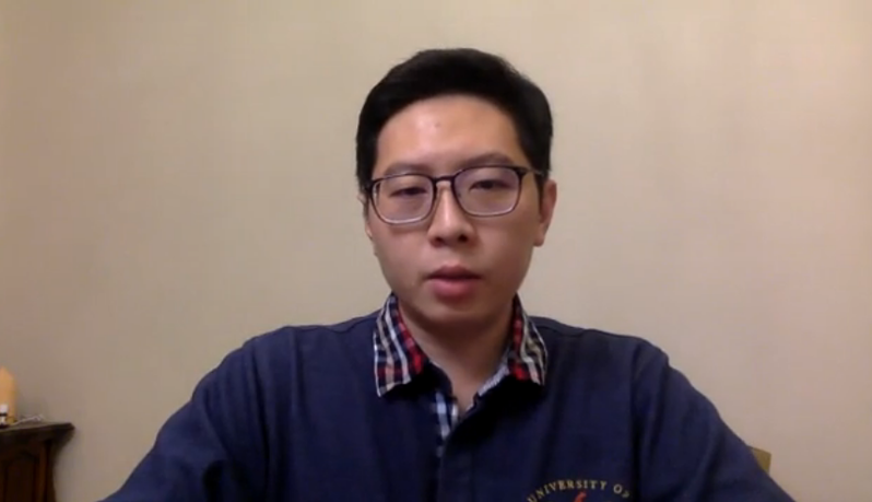 王浩宇在臉書上開直播,解釋自己加入民進黨的原因。 圖擷自facebook