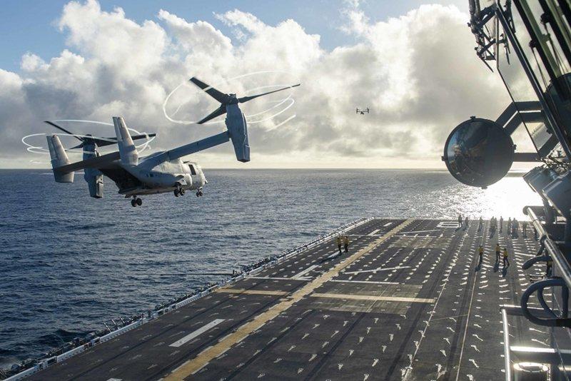 MV-22B的服役,使得美國旋翼機投射能量大增,加強美軍介入全球小規模武力衝突的應變能力。 圖/美國國防部