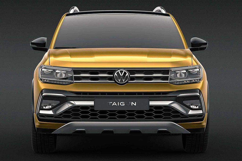 福斯汽車於2020印度新德里車展上發表新Taigun概念跨界休旅。 圖/Volk...