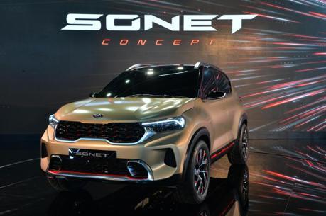 品牌再列入一款全新入門小休旅 Kia Sonet Concept印度車展正式亮相!