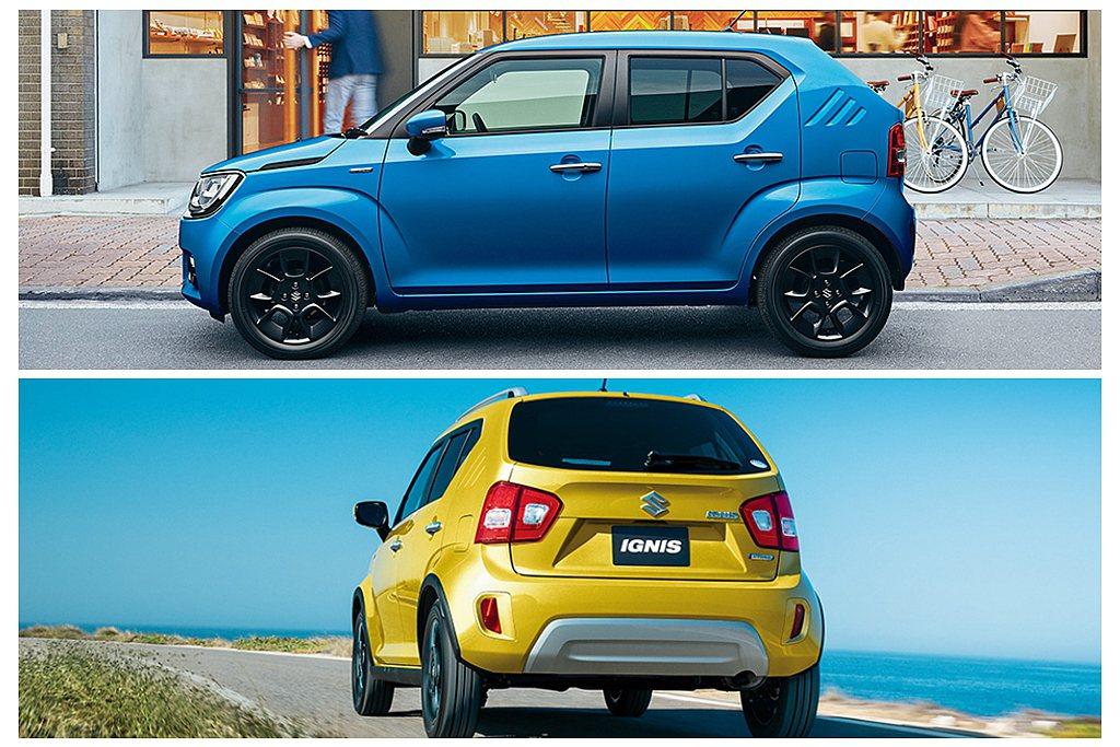 日規小改款Suzuki Ignis維持長3,700mm、寬1,660mm、高1,...