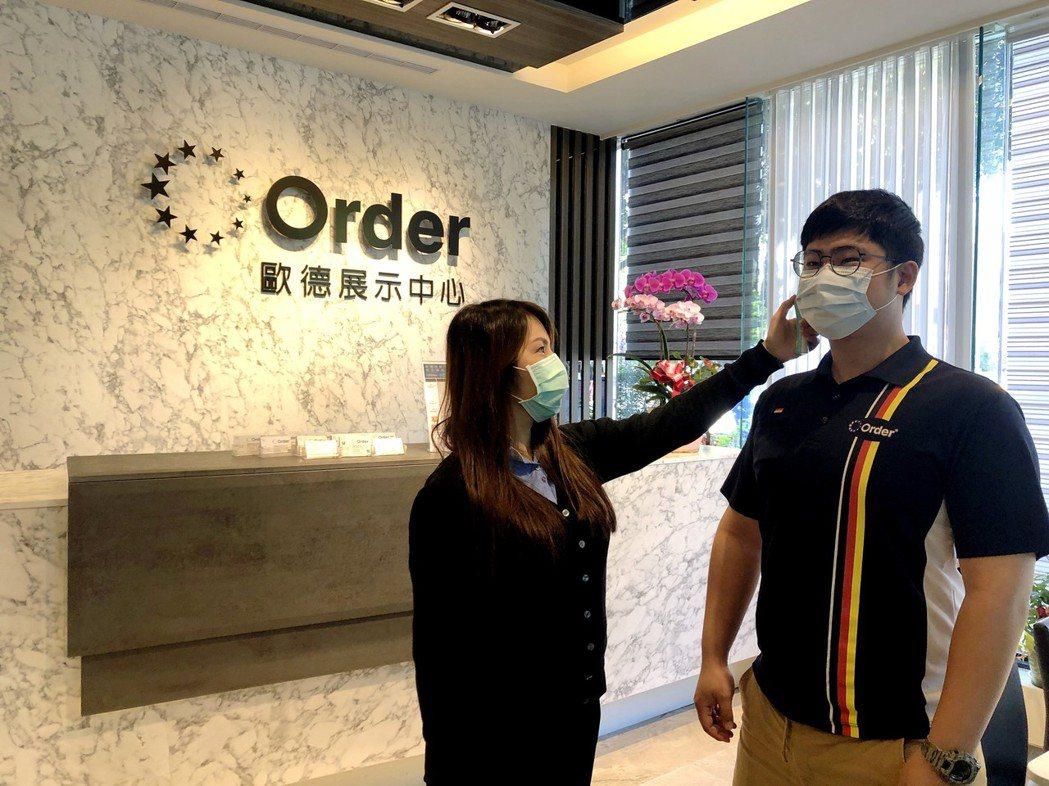 為了防堵武漢肺炎,歐德集團發起「自我保護做到位,面對病毒無懼畏」量體溫自我防範。...