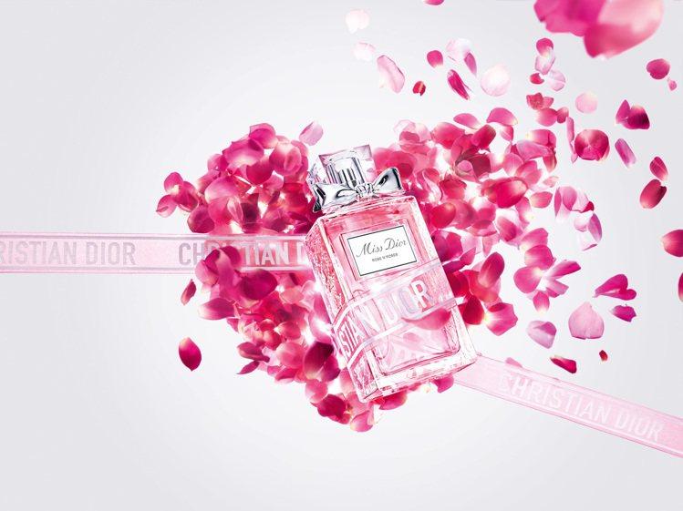 迪奧Miss Dior漫舞玫瑰淡香水,是送給情人的好選擇。圖/迪奧提供