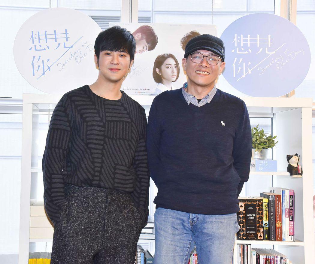 顏毓麟(左)、導演黃天仁出面受訪。圖/衛視中文台提供