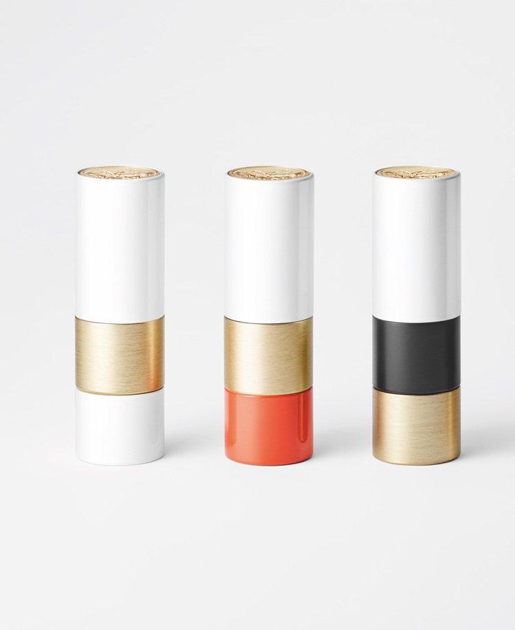 愛馬仕Rouge Hermès唇妝系列,包裝多重材質與顏色組成。圖/愛馬仕提供