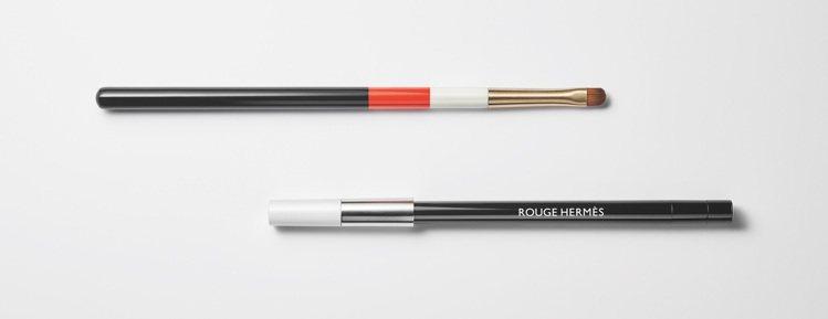 愛馬仕Rouge Hermès唇妝系列,漆木唇刷(上)/2,650元、透明唇線筆...