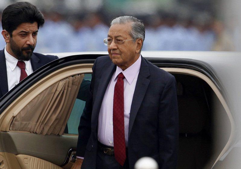 馬來西亞總理馬哈迪。美聯社