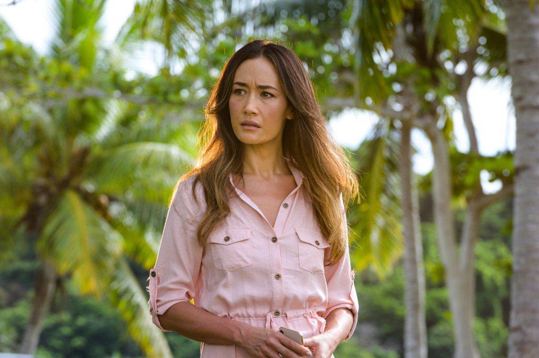 Maggie Q在「逃出夢幻島」扮演壓抑、陰鬱的女子。圖/索尼提供