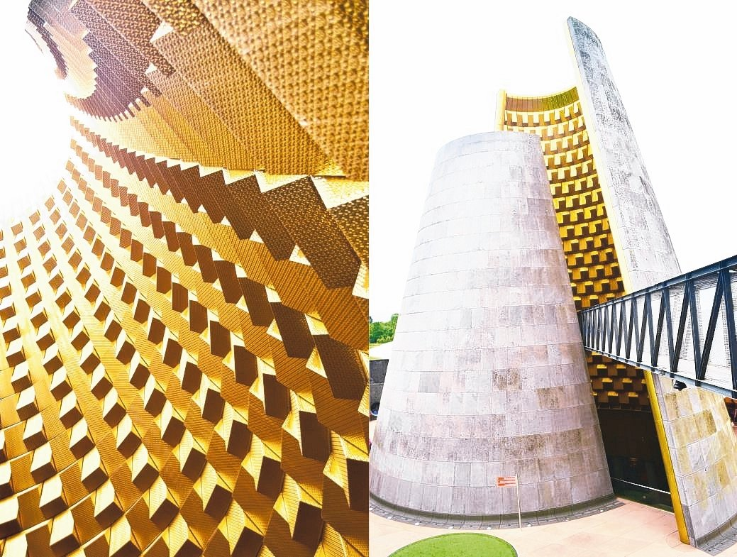 由國際大師Hans Hollein設計的火山博物館,採用「STANCH」不銹鋼產...