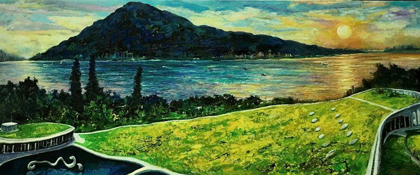 這次胡復金用筆畫下滬尾藝文休閒園區的景緻,對於淡水在地民眾更能產生感受與共鳴。 ...
