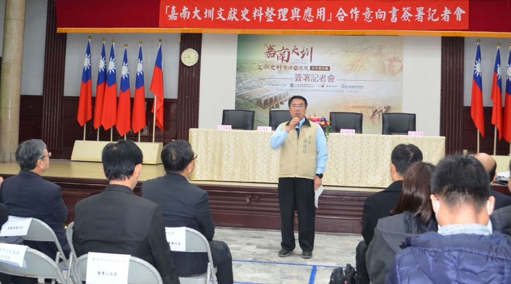 黃偉哲市長致詞。  陳慧明 攝影