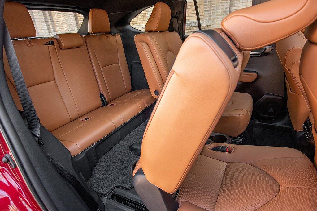 全新第四代Toyota Highlander在美國可選三排7座或三排8座不同設定...