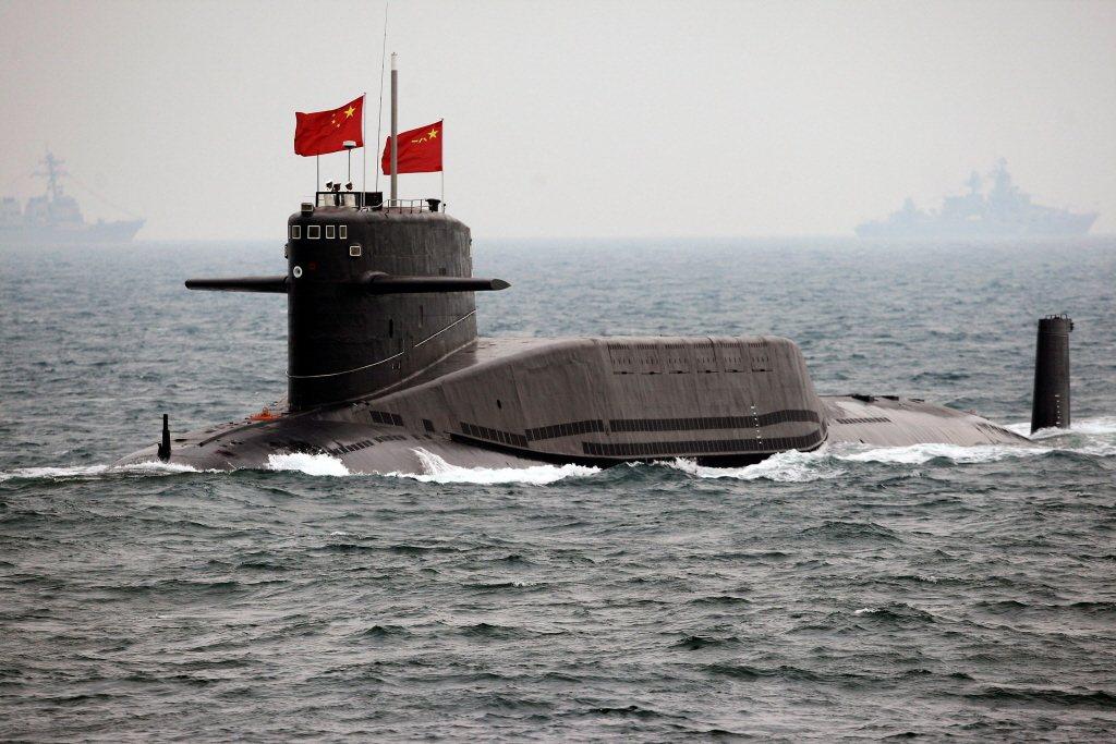 解放軍094型核動力潛艦。 圖/路透社