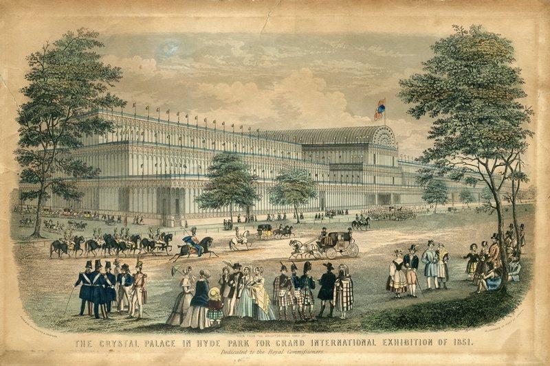 1851年英國的萬國博覽會。 圖/維基共享