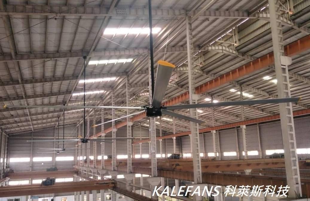 台灣工廠使用開勒風扇案例 科萊斯科技/提供