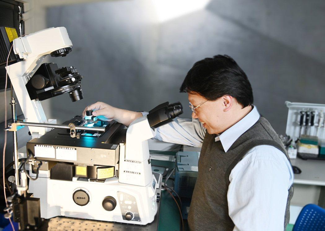 清華醫環系教授葉秩光成功讓超音波成為活化細胞的「開關」。 圖/清大提供