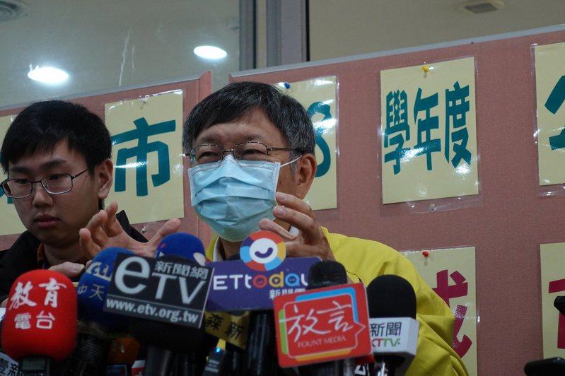 對於賴清德訪美見到川普,台北市長柯文哲今上午受訪時直言「這表示我們外交工作做得不錯啊」。記者邱瓊玉/攝影