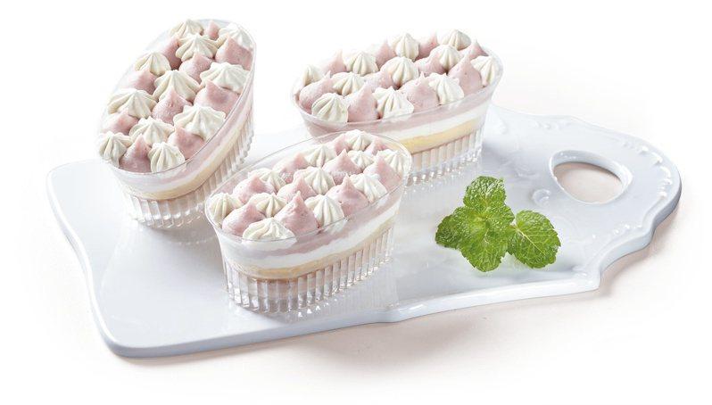 2月10日上午11點起7-ELEVEN生活美食誌預購推出奧瑪烘焙的「芋泥寶盒」,1組售價250元、8組售價1,560元。圖/7-ELEVEN提供