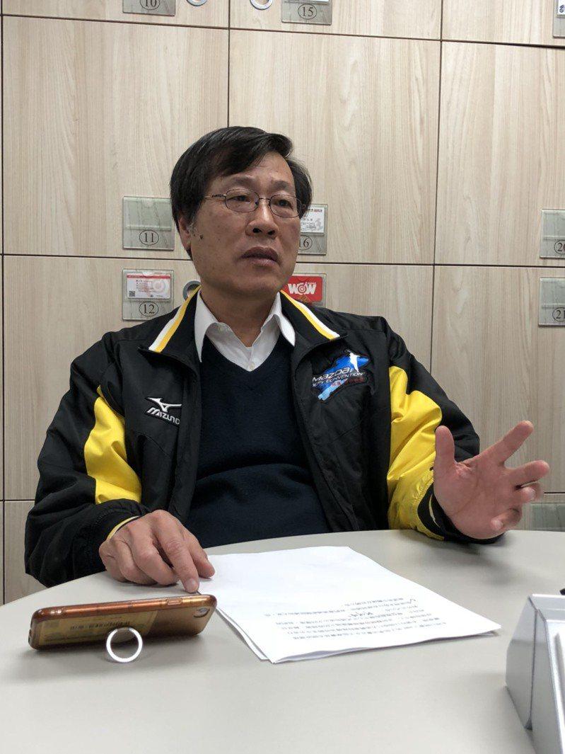 體育署學校運動組組長王漢忠。記者劉肇育/攝影