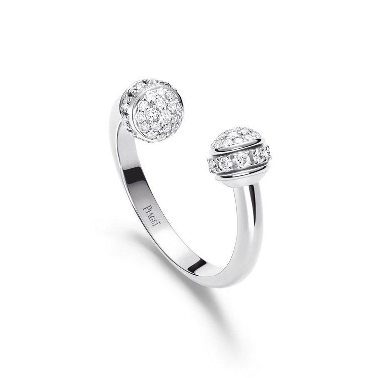 PIAGET,Possession 系列18K白金鑲鑽戒指,18K白金,共鑲嵌5...