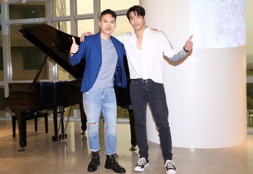 林中琦跨行流行樂壇,邀吳翔震首度跨刀為新歌填詞。記者徐兆玄/攝影