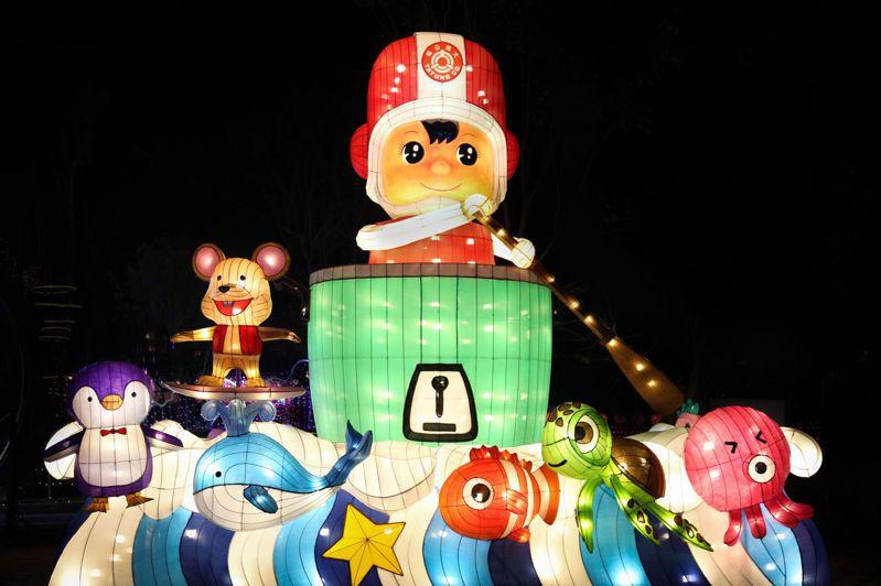 大同寶寶海洋嘉年華,喜迎2020台灣燈會。(圖:大同公司提供)