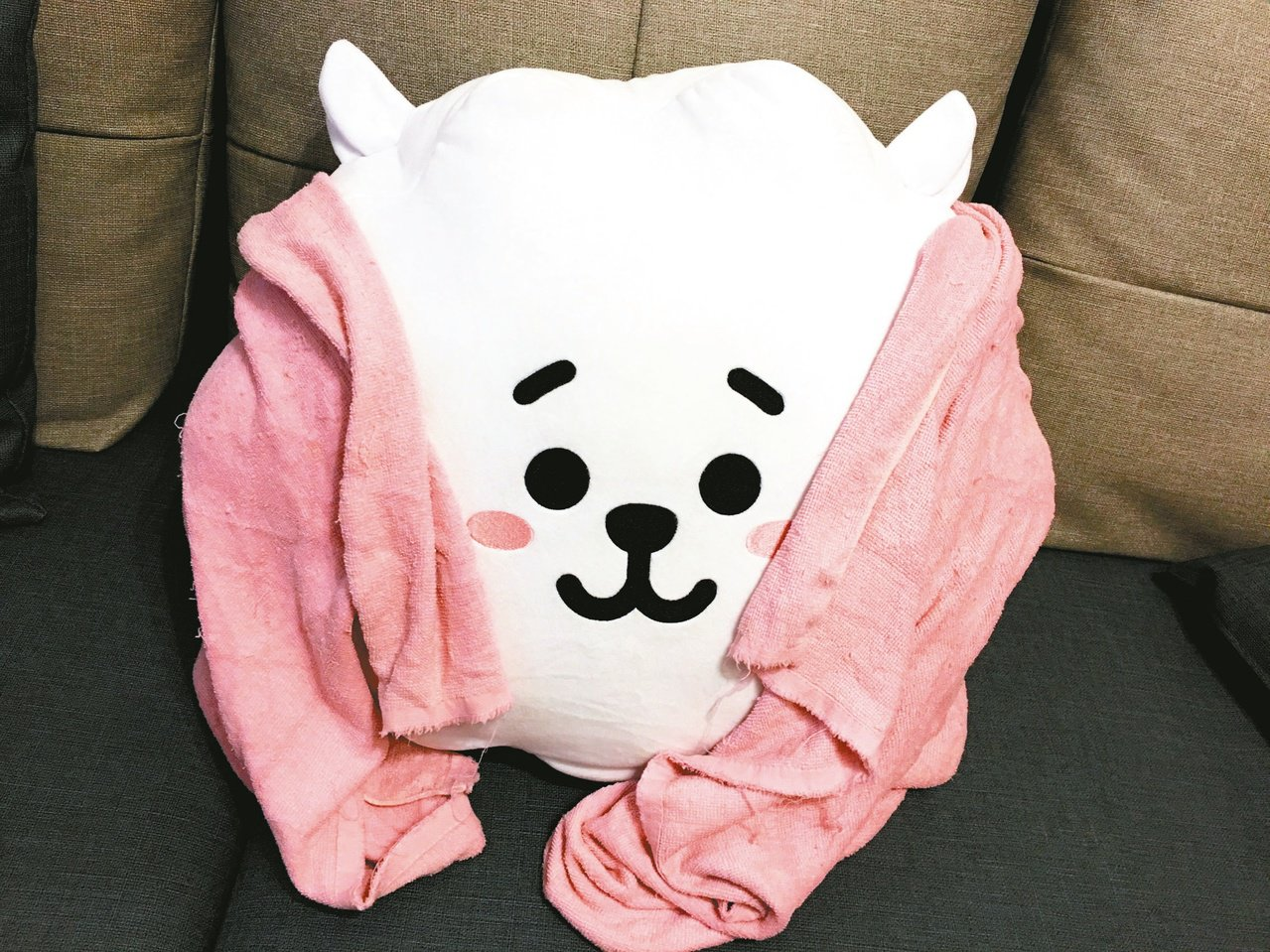 每個baby出生時,多數醫院會用一條大毛巾包裹幼小的身軀。 圖/安娜提供