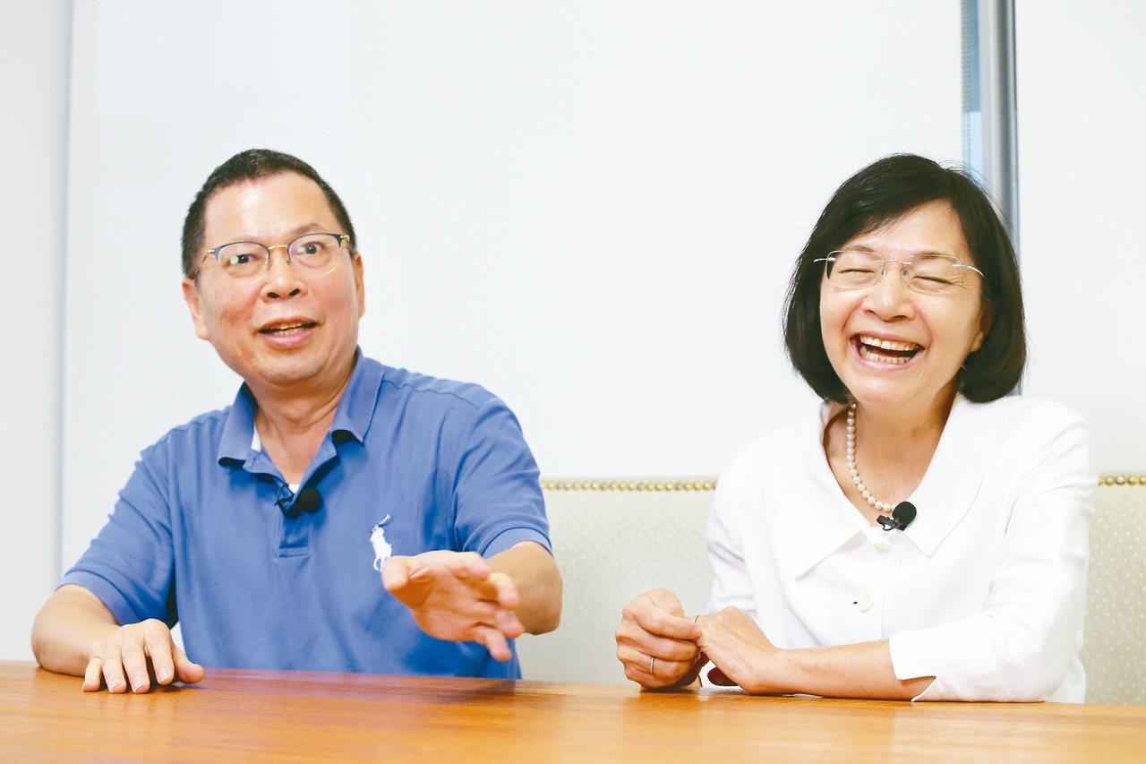 鄭丞傑(左)暱稱太太王教授,談起王教授瘦身的趣事,場面突然超歡樂。圖/許正宏攝影