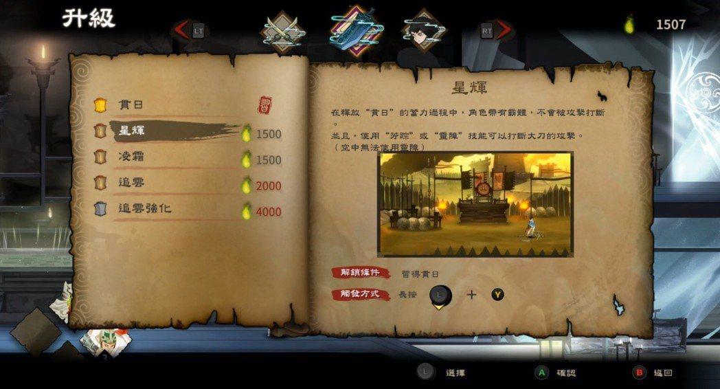 簡易的升級系統,提升玩家的能力。
