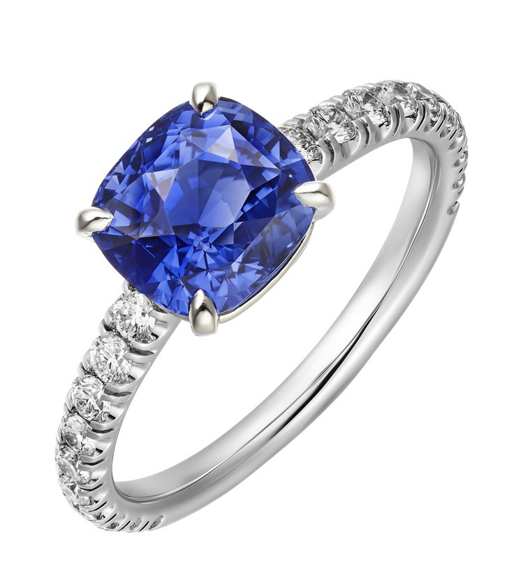 Cartier,Solitaire 1895藍寶石戒指,價格店洽。圖╱Carti...