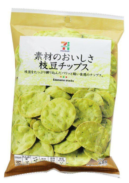日本7PREMIUM「毛豆脆餅」,售價79元。圖/7-ELEVEN提供