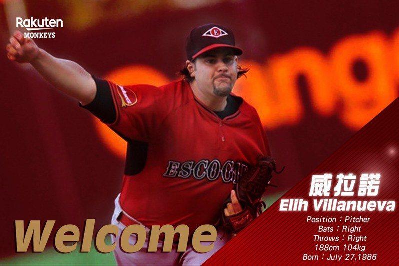 紐維拉中文名字改為「威拉諾」,轉往樂天桃猿隊效力。圖/樂天桃猿隊提供
