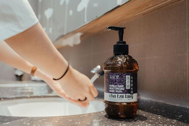 茶籽堂與誠品合作,於部分樓層擺放馬栗樹洗手露供大眾使用。圖/茶籽堂提供