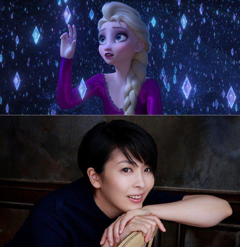 松隆子為「冰雪奇緣2」艾莎獻聲,受邀在奧斯卡典禮上表演。圖/摘自twitter