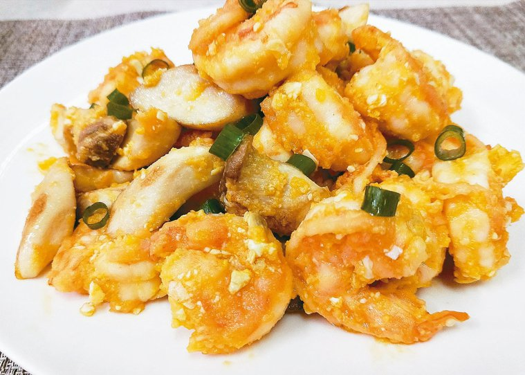 金沙蝦與菇 圖╱陳芸英