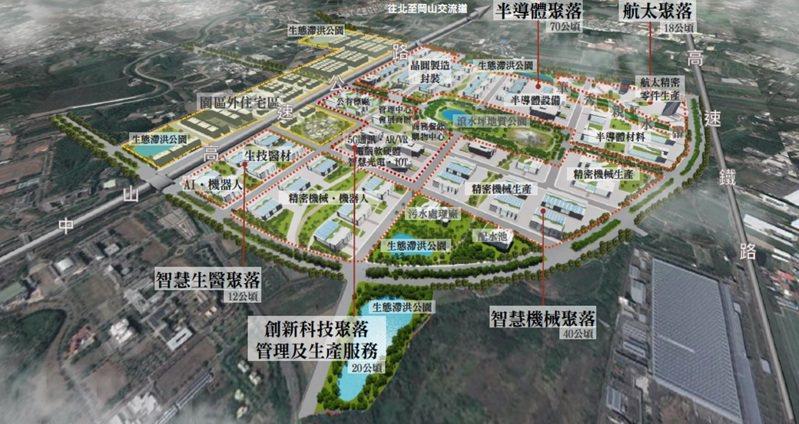 橋頭科學園區聯外道路拓寬工程周邊區位示意圖。圖/營建署提供
