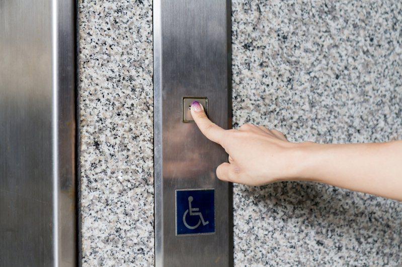 武漢肺炎大爆發,民眾擔心用手觸碰電梯會沾上病毒,醫師陳志金教大家幾個避免的方法。 圖/ingimage