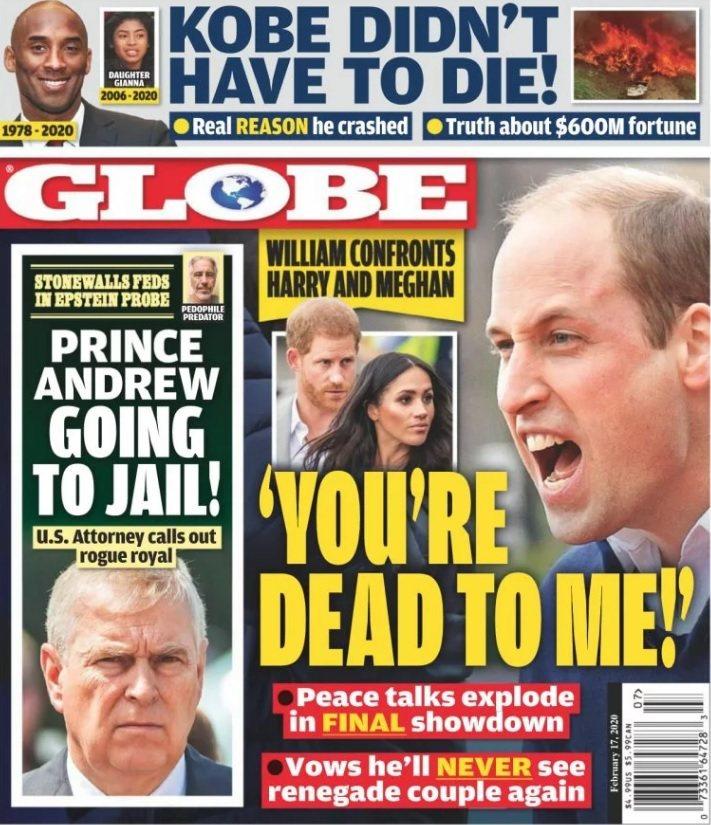 八卦刊物指威廉王子痛罵弟弟哈利,表示在他心目中哈利跟死了沒兩樣。圖/摘自Glob