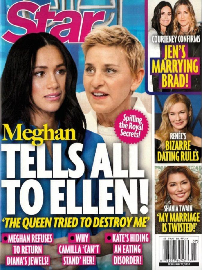 梅根被指將在艾倫狄珍妮絲的專訪中抖出英國皇室的黑幕。圖/摘自Star