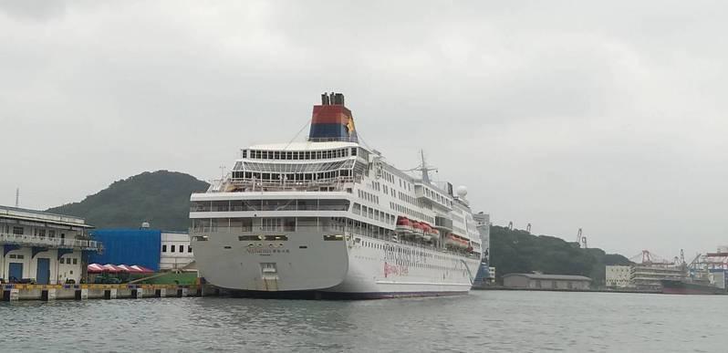 寶瓶星號將在今午12點駛離基隆港,停泊港口尚未確定。記者邱瑞杰/攝影