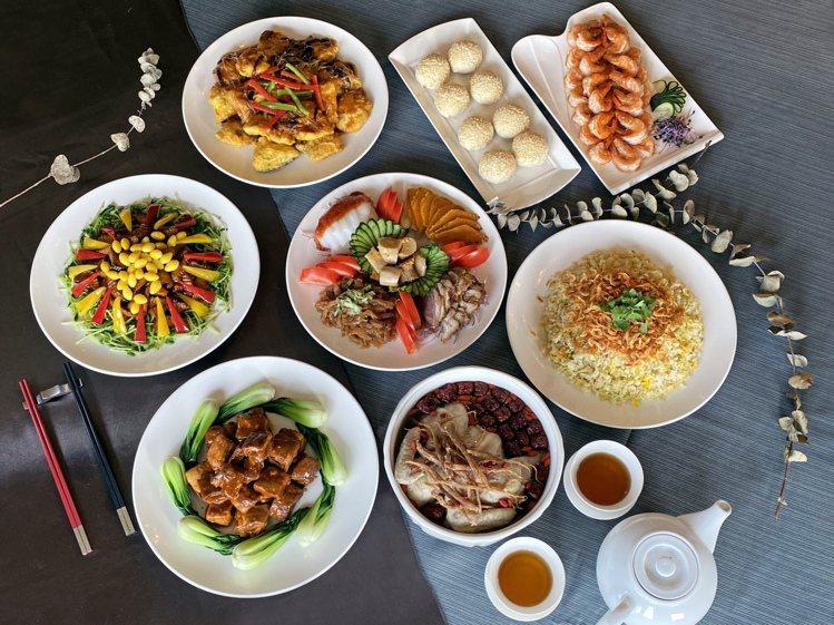天成飯店集團的外送合菜選擇多樣。圖/天成飯店集團提供