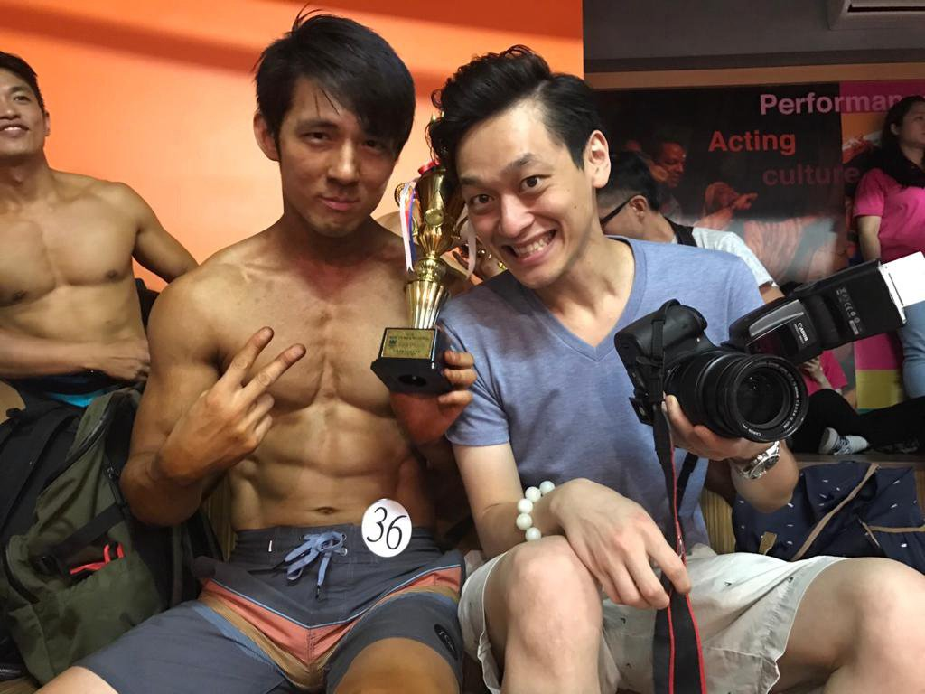 前南拳媽媽成員張傑(左)已從斯文男變猛男。圖/張傑提供