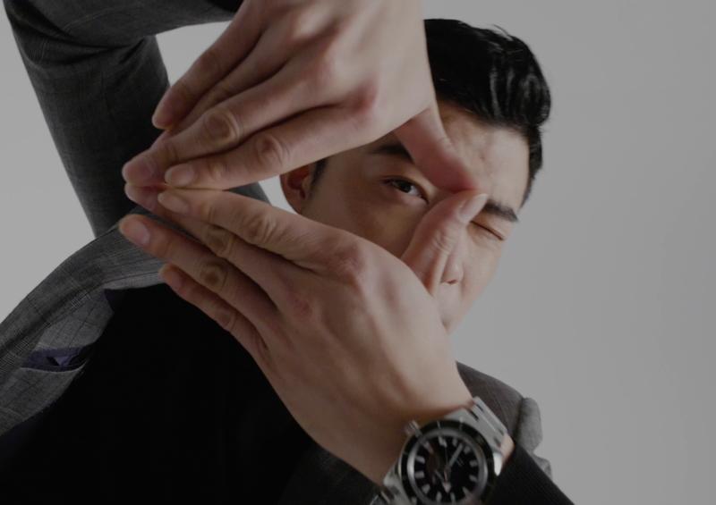 男星王柏傑幫雷達表拍攝全新腕表形象短片,放送電眼魅力撩粉絲。圖/Rado提供