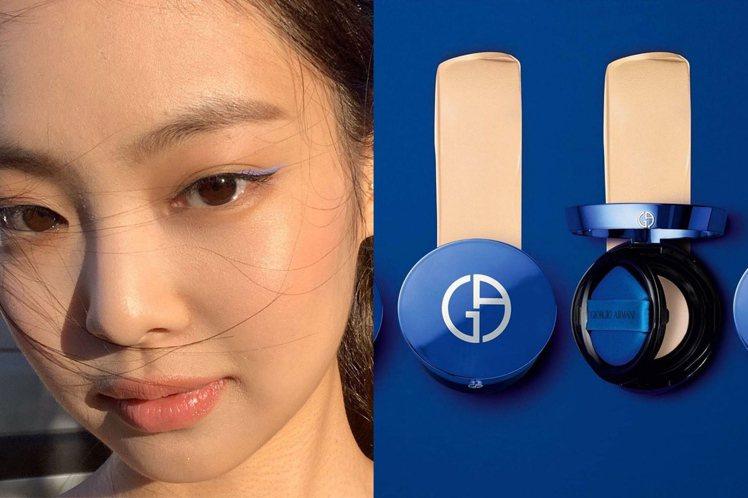 快跟著Jennie學畫經典藍眼妝。圖/摘自IG