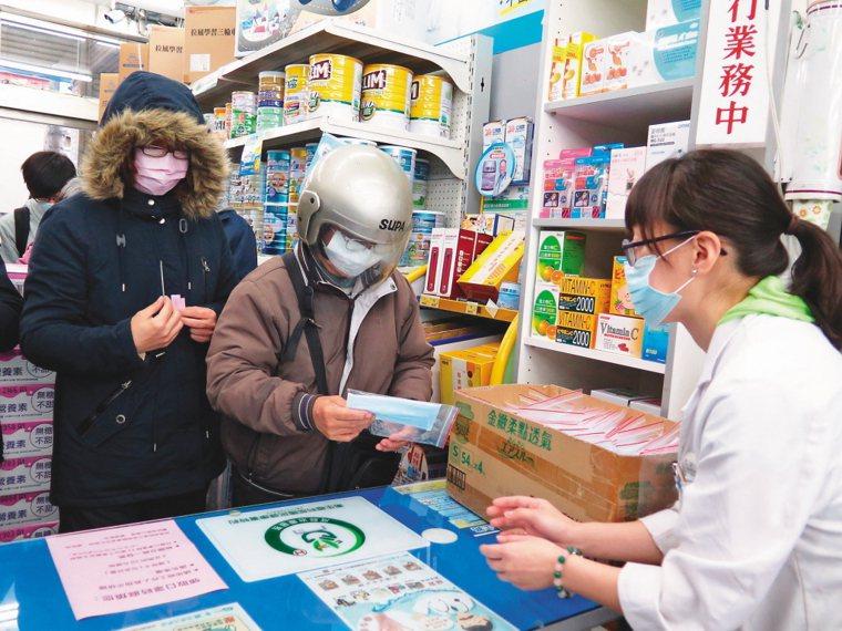圖為販售口罩畫面。圖/聯合報系資料照片
